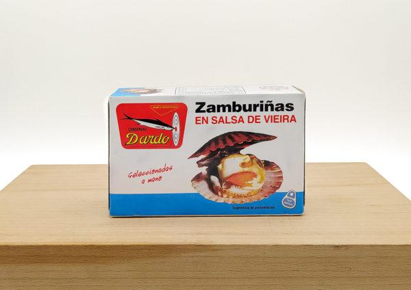 zamburinas en salsa de vieiras dardo
